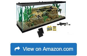 Tetra 55 Gallon Aquarium Kit with Fish Tank, Fish Net, Fish Food, Filter, Heater, and Water Conditioners
