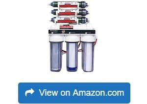 6 Stage Aquarium RO//DI Zero TDS Water Filter System 100 GPD LiquaGen